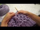 Теплая шапка Ромбы, crochet hat ( шапки №100)