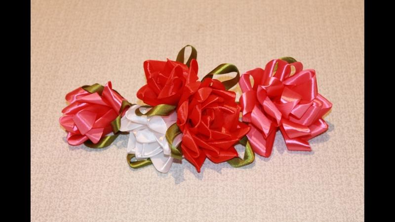 Розы из атласных роз своими руками фото 809
