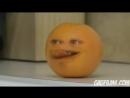 бешеный апельсин - достаёт яблоко