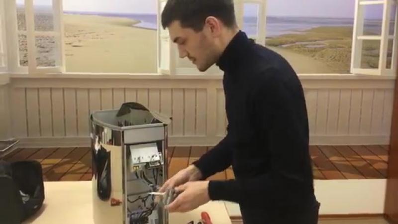 Ремонт печи Harvia Vega своими руками ч 1 Замена термостата ZSK 520