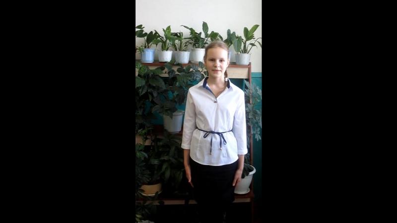 Участница акции Живая вода - Воронина Алена, ученица 4 класса СОШ №2 г. Никольска.