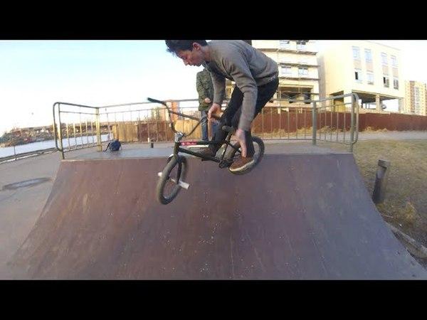 BMX IN MINI RAMP