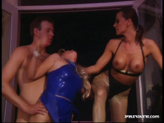 The perversions of the damned   alexandra nice and zarina bisexuals having mmff foursome with whipping