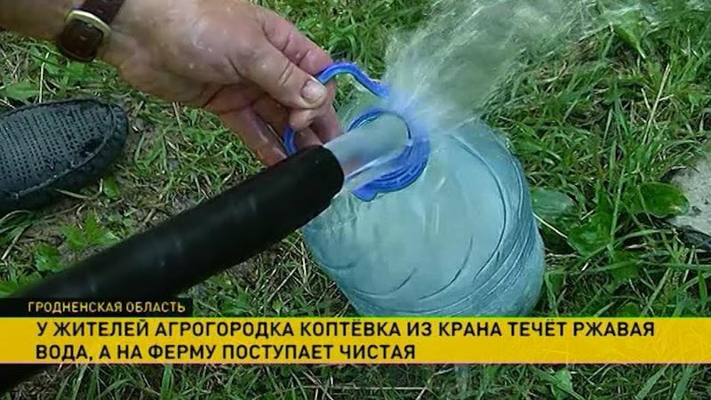 Сыпь у взрослых и детей жители агрогородка Коптёвка остались без питьевой воды
