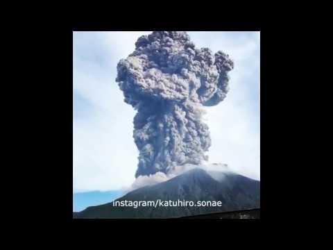 Началось извержение вулкана Сакурадзима в Японии 16.06.2018