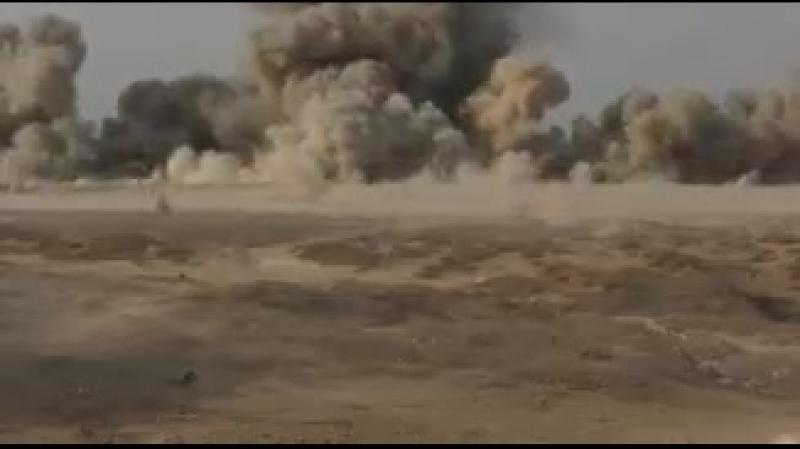 СДС продолжают обезвреживать мины и другие виды СВУ, оставленных боевиками ИГИЛ в районе Дашиша.