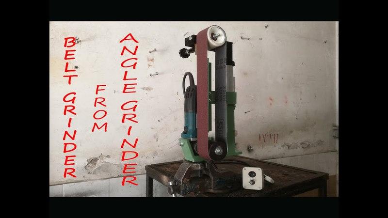 BELT GRINDER FROM MAKITA ANGLE GRINDER! KNIFE MAKING!