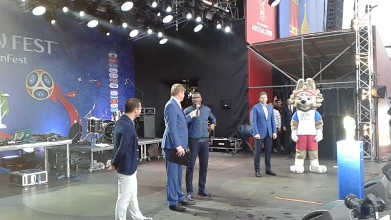 Ты не повериш Алексей Добрынин,Дмитрий Губерниев,Талисман FIFA2018 Забивака Zabivaka,Олимпийский чемпион Николай Гуляев,Российск