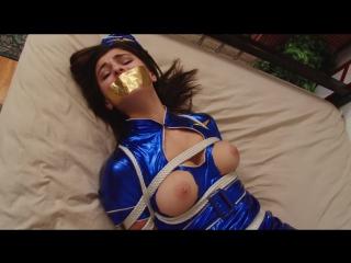 Sexy stewardess struggles in bondage - miss leah gotti