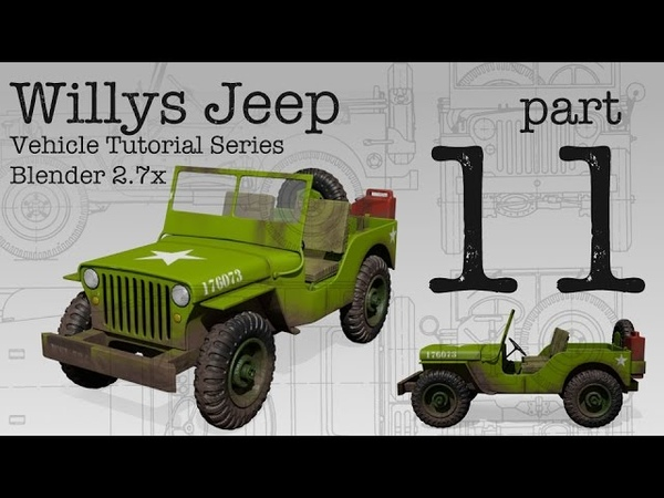 Willys Jeep - Blender Tutorial Series - Part 11 - Texture Painting