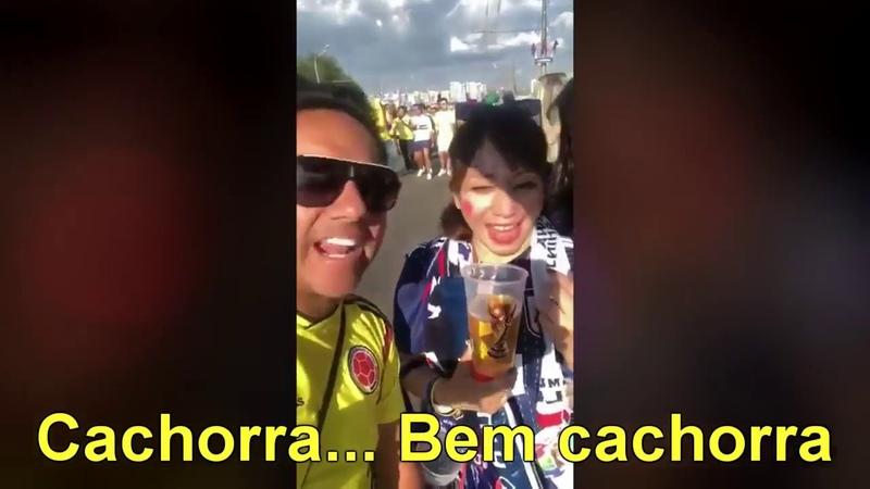 Vídeo ofensivo de colombiano com torcedora japonesa na Rússia gera polêmica (Legendado)