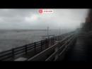 Шторм на побережье Балтийского моря в Калининградской области