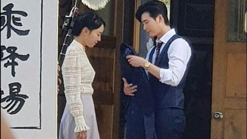 Hymn Of Death ~ Lee Jong Suk and Shin Hye Sun making film Part 1