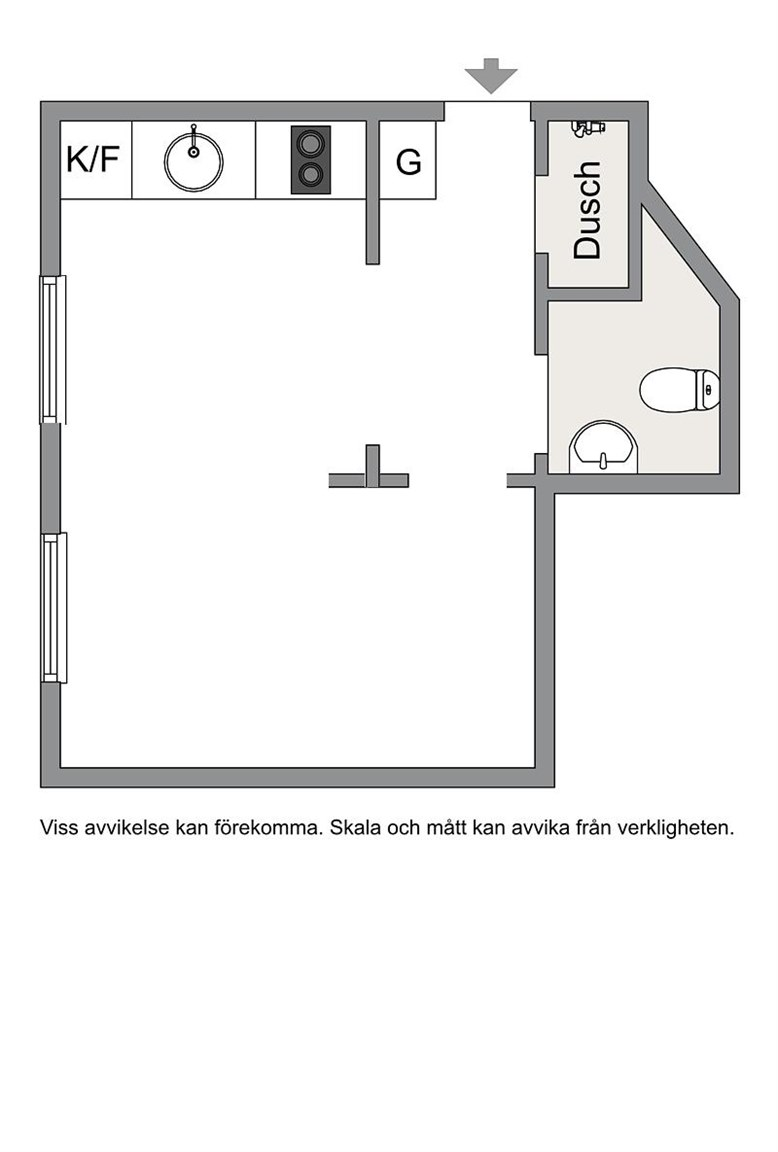 Скандинавская квартира-студия 28 м.