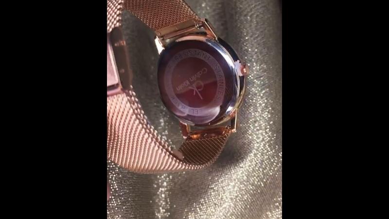 Часики ⌚️🔥в розовом золоте/ лаконичные Ck ❗️СУПЕР ЦЕНА 999₽❗️