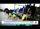 Fuertes lluvias provocan inundaciones y caos vial en la CDMX ¦ Noticias con Francisco Zea