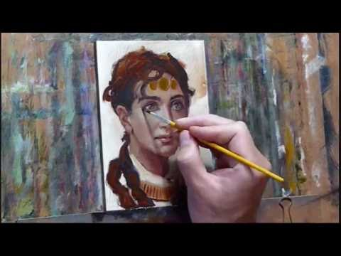 Romantic Portrait Painting Demo смотреть онлайн без регистрации