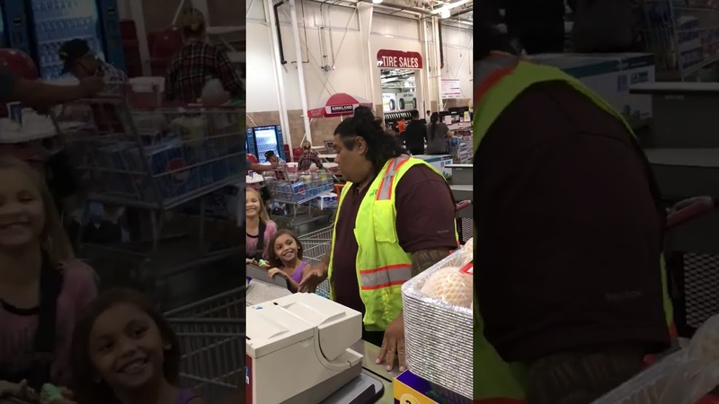 When Your Girls Insist The Costco Clerk Is Maui from Moana