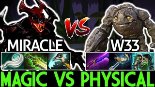Miracle- Shadow Fiend VS W33 Tiny | Magic Build VS Physical Build 7.19 Dota 2