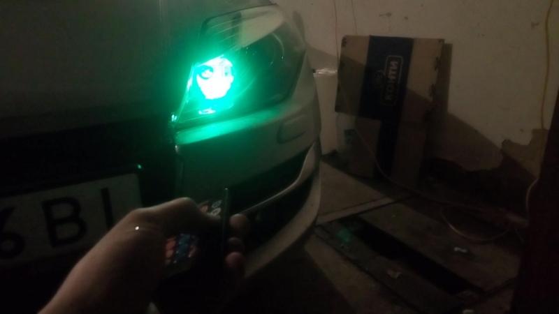 Led габариты меняют цвет с помощью пульта rgb светодиоды подсветка Т10