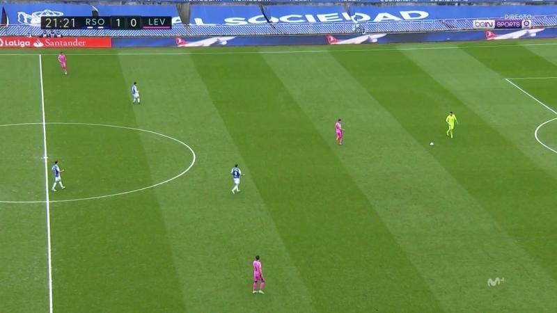 Чемпионат Испании 2017-18 24-й тур Реал Сосьедад – Леванте 1 тайм [720, HD]