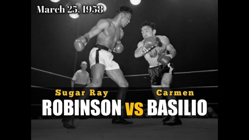 Шугар Рэй Робинсон vs Кармен Базилио Sugar Ray Robinson vs Carmen Basilio 25 03 1958