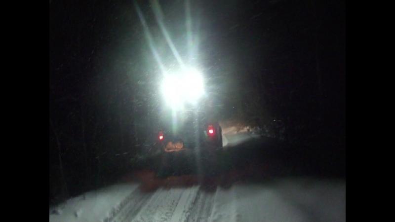 Ещё один фрагментик поездки по снежному побережью Ладоги