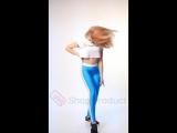 голубые лосины adidas