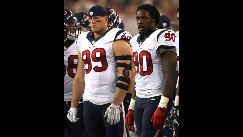 Jadeveon Clowney NFL 2016. AFC Wild Card. Oakland Raiders at Houston Texans