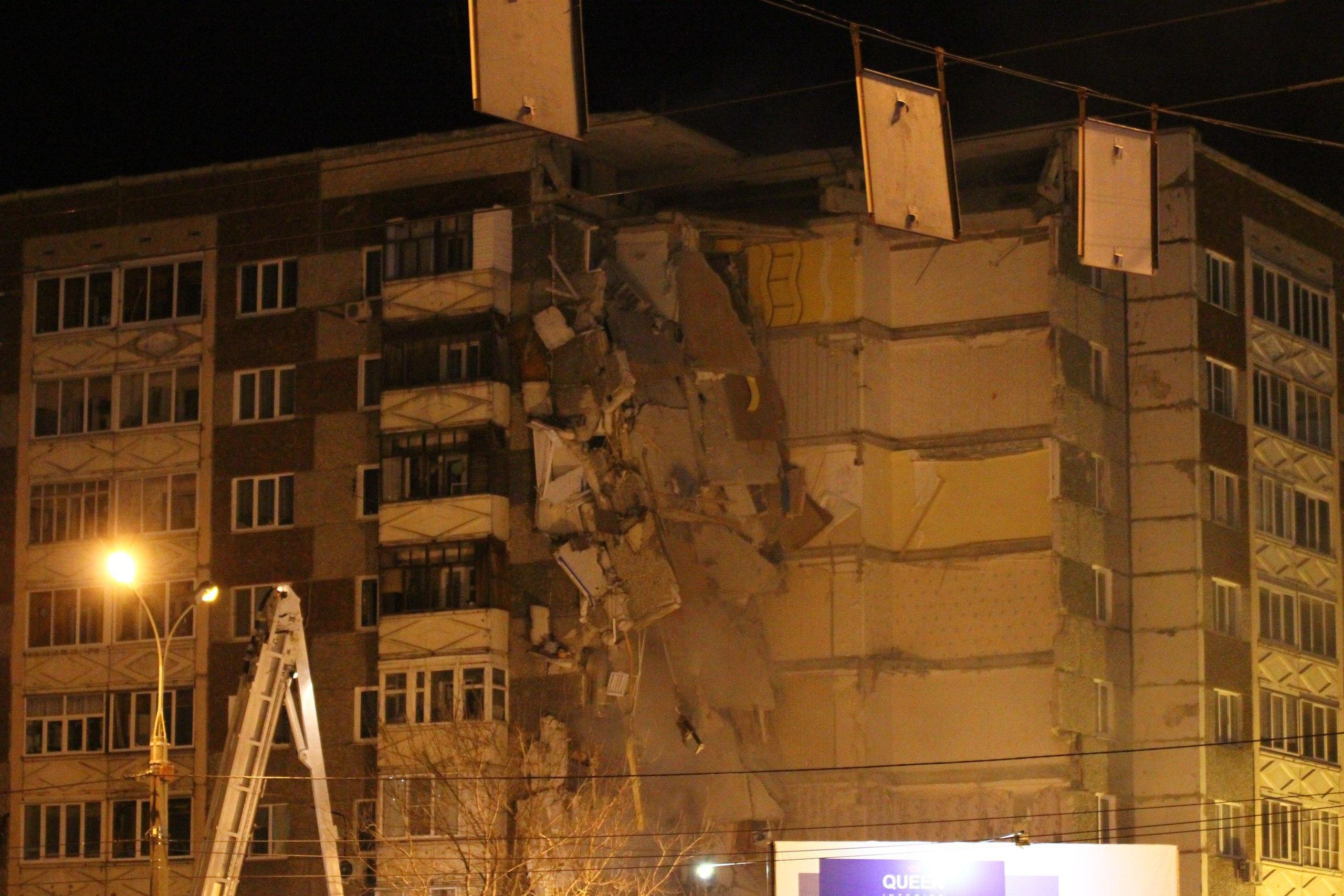 обрушение дома, удмуртия, ижевск, 2017