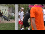 May 12: Video of Justin playing soccer in Playa Vista, California.