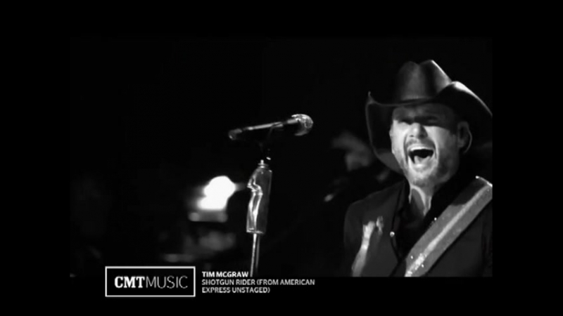 Tim McGraw — Shotgun Rider (From American Express Unstaged) (Country Music Television) CMT MUSIC