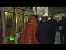 Владимир Путин поставил свечку за тех, кто отдал свою жизнь, защищая людей в