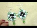 Diy tutorial easy orecchino perline fai da te con tila beads cristalli 1 earrings beads