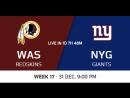 NFL 2017-2018 / Week 17 / Washington Redskins - New York Giants / CG / EN