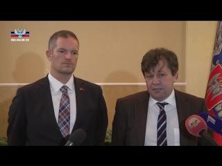 Александр Захарченко провел встречу с политическими и общественными деятелями России, ФРГ и Норвегии
