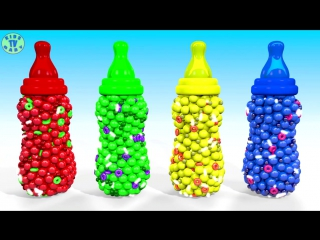 🍼learn colors with colored baby bottles for kids toddlers babies🍼