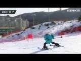 В Южной Корее прошли первые горнолыжные соревнования среди роботов