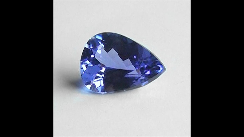 GIL Certified Genuine Bluish Violet Top Gem Tanzanite Gemstone With VVS Clarity Gorgeous Color C11