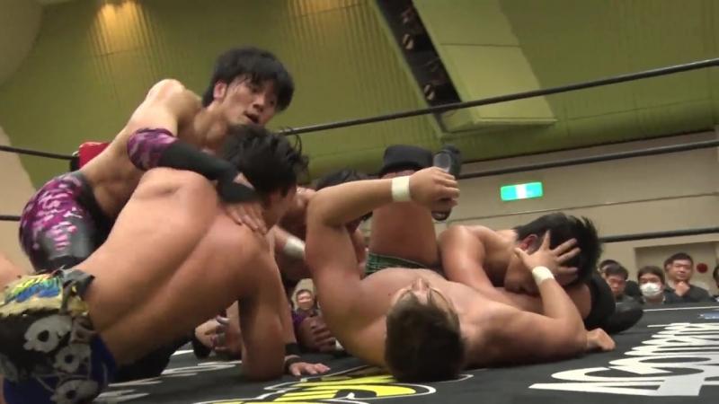Kota Umeda, Yuki Ueno, Koju Takeda (c) vs. Mike Bailey, MAO, Kouki Iwasaki (DDT - Music! 2018)