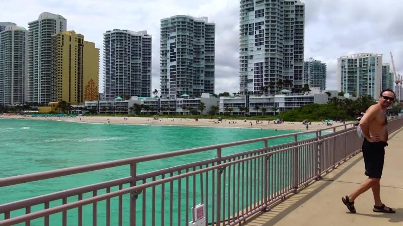 США прогулка по МАЙАМИ БИЧ Sunny Isles Beach