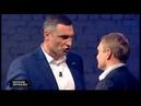 Мэр Киева Виталий Кличко не смог ответить на вопросы Александра Пузанова во время теледебатов