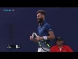 Benoit Paire's racquet handle snaps! Dubai 2018 (vk.com/capperstrategyclub)