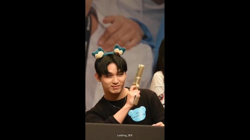 FANCAM 04 07 2018 BTOB на фансайне в Pop Up Store Фокус на Хёншика