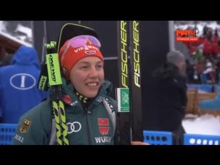 Интервью Лауры Дальмайер после спринта в Анси