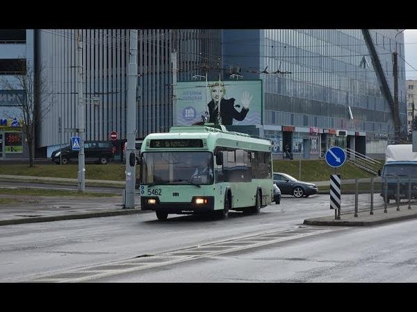 Поездка на троллейбусе БКМ-32102,борт.№5462.(18.06.2018)