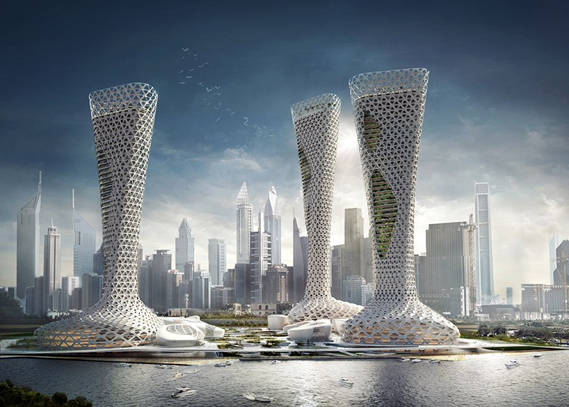 Amorphoustudio's mixed-use proposal in Dubai creates a union between design and nature