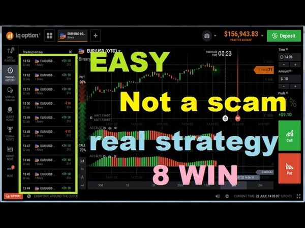 REAL STRATEGY - NO SCAM - double awesome oscillator - 8 win || iq option strategy