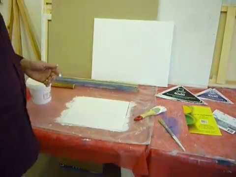 Грунтуем фабричный холст чтобы краски не прожухали