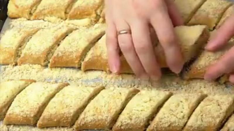Слоёное печенье с грецкими орехами